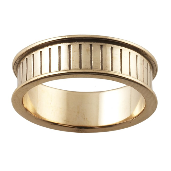 Picture of 6mm wide Bronze Ring Core UK Size P 1/2