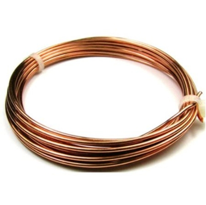 Picture of Unplated Copper Round Wire 0.9mm x 10m
