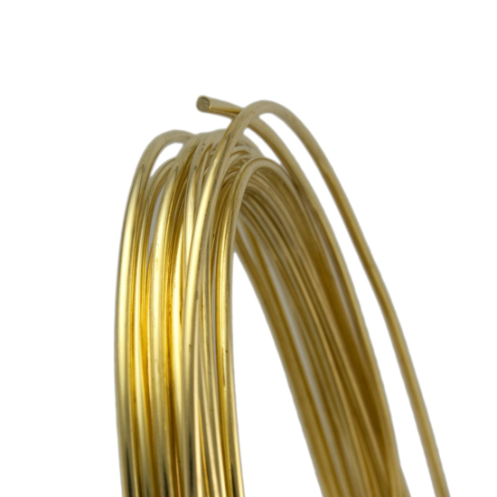 Picture of Unplated Brass Round Wire (Half Hard) 0.8mm x 10m