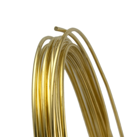 Picture of Unplated Brass Round Wire (Soft) 1.0mm x 10m