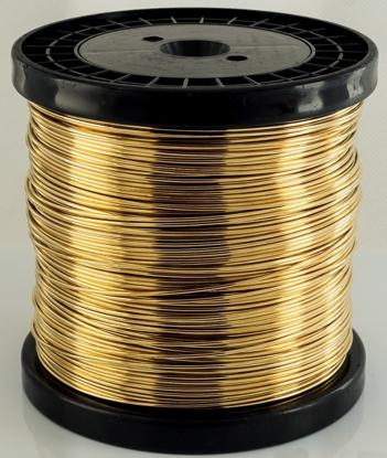 Picture of Unplated Brass Round Wire (Soft) 0.8mm x 1kg (2x500g)