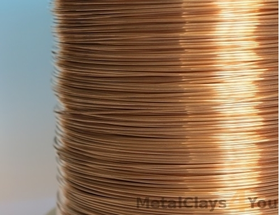 Picture of Unplated Bronze Round Wire 0.8mm x 10m