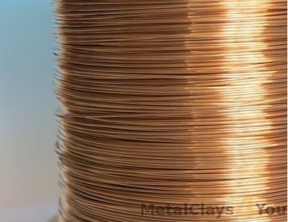 Picture of Unplated Bronze Round Wire 1.0mm x 10m