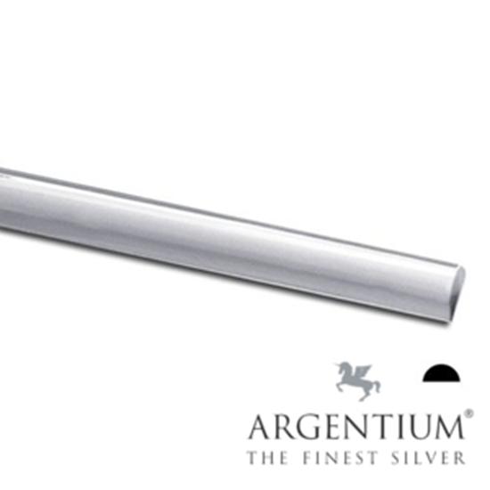 Picture of 935 Argentium Sterling Silver Half Round Wire 21ga x 5m