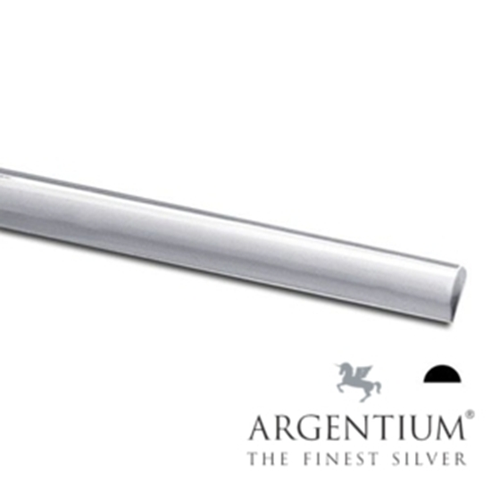 Picture of 935 Argentium Sterling Silver Half Round Wire 8ga x 50cm