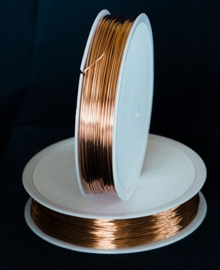 Picture of Unplated Copper Round Wire 0.7mm x 20m (spool)