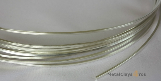 Picture of 925 Sterling Silver Square Wire (Half Hard) 1.0mm x 1m