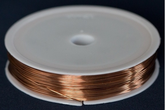 Picture of Unplated Copper Round Wire 0.6mm x 25m (spool)