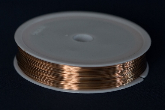 Picture of Unplated Bronze Round Wire 0.4mm x 20m (spool)