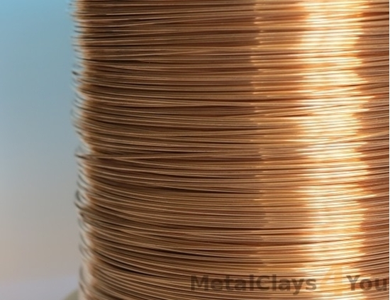 Picture of Unplated Bronze Round Wire 0.5mm x 0.5kg (spool)