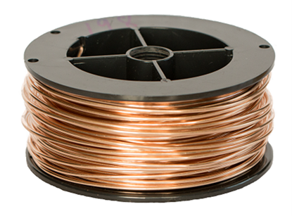 Picture of Unplated Bronze Round Wire 0.9mm x 0.5kg (spool)