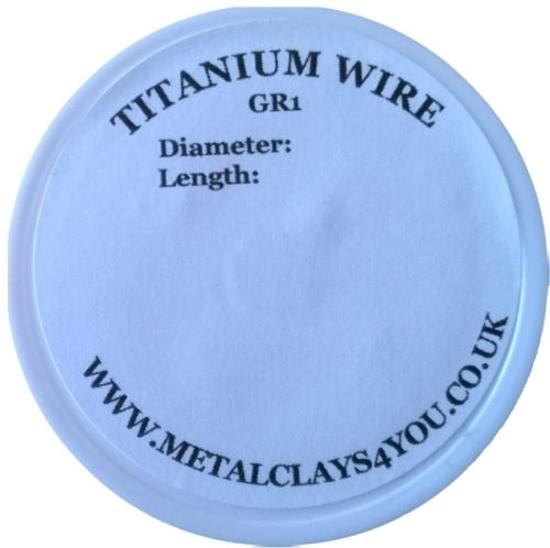 Picture of Grade-1 Titanium Round Wire 0.3mm x 50m (Soft)