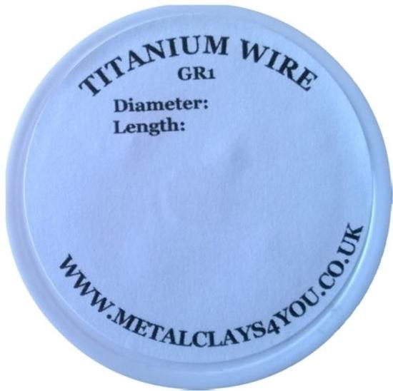 Picture of Grade-1 Titanium Round Wire 0.2mm x 50m (Soft)