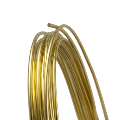 Picture of Unplated Brass Round Wire (Soft) 1.2mm x 5m