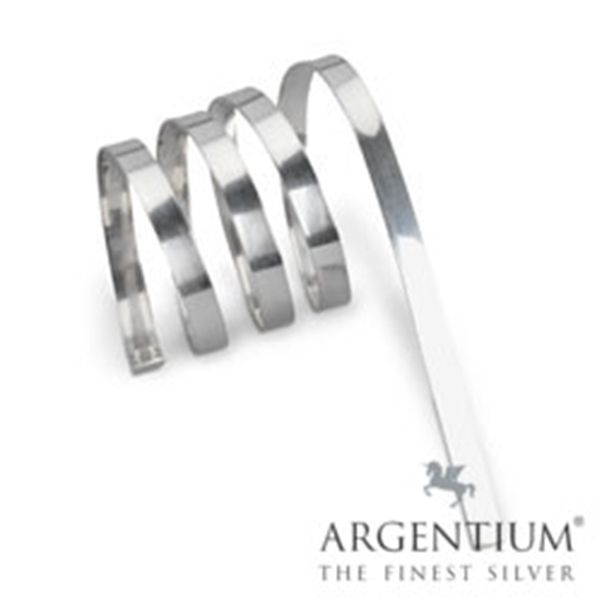 "Picture of 935 Argentium Silver Bezel Strip (30ga x 1/8"") x 50 cm"