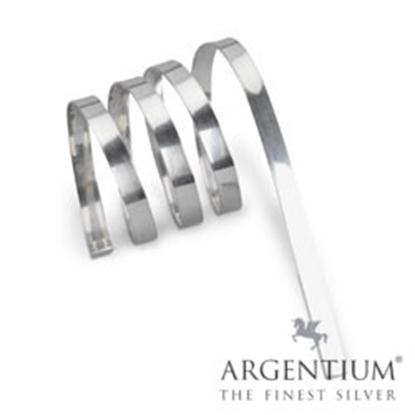 "Picture of 935 Argentium Silver Bezel Strip (28ga x 3/32"") x 50 cm"