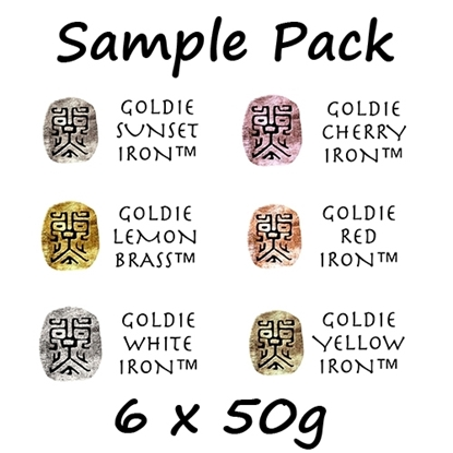 Picture of Goldie Irons and Brass Clay Try Set ( 6 x 50g )