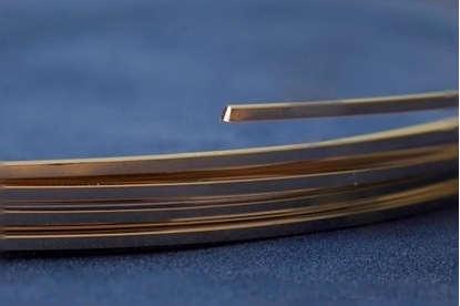 Picture of Yellow Gold-Filled Square Wire 14/20 (Soft) 1.3mm x 1m