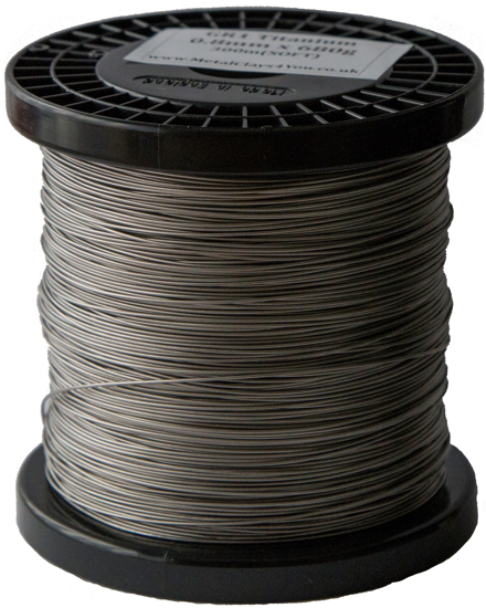 Picture of Grade-1 Titanium Round Wire 0.8mm x 300m (Half Hard)