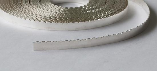 """Picture of Fine Silver Scalloped Bezel Strip Wire (30ga x 3/16"""") x 50cm"""