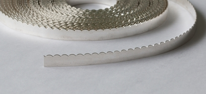 "Picture of Fine Silver Scalloped Bezel Strip Wire (28ga x 1/8"") x 50cm"