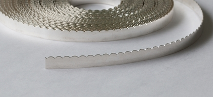 "Picture of Fine Silver Scalloped Bezel Strip Wire (28ga x 3/16"") x 50cm"