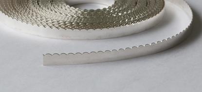 """Picture of Fine Silver Scalloped Bezel Strip Wire (26ga x 3/16"""") x 50cm"""
