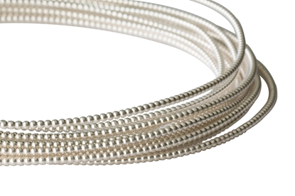 Picture of 925 Sterling Silver Full-Bead Wire 0.94mm x 100cm