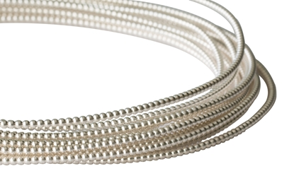 Picture of 925 Sterling Silver Full-Bead Wire 1.14mm  x 100cm