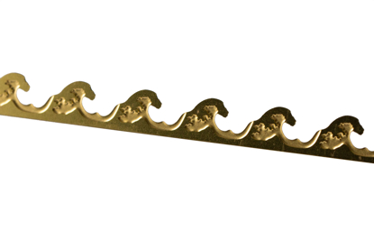 Picture of Brass  Waves  Decorative Bezel Wire