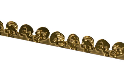 Picture of Brass Skulls  Decorative Bezel Wire