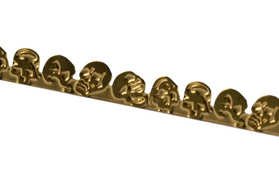 Picture of Brass Skulls  Decorative Bezel Wire