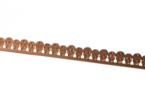 Picture of Copper Sugar Skulls  Decorative Bezel Wire
