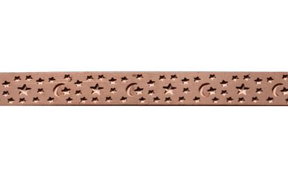 Picture of Copper Moon and Stars Decorative Bezel Wire
