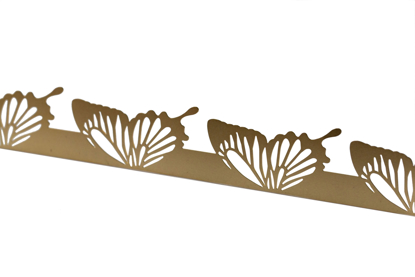 Picture of Brass Butterfly wings cutouts overlay pattern