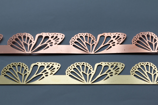 Picture of Swallowtail  wings cutouts overlay pattern (Set of 2 metals)