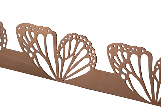 Picture of Copper Swallowtail wings cutouts overlay pattern