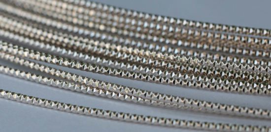 Picture of 925 Sterling Silver Diamond Cut 1.0mm x 100cm