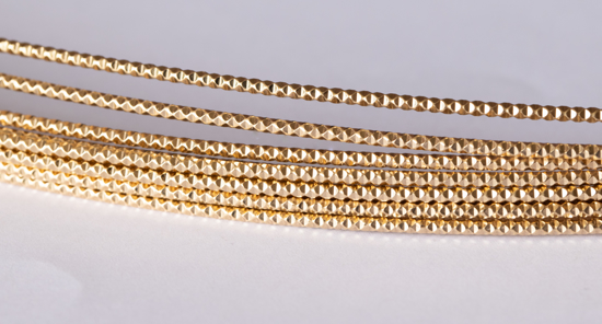 Picture of 14/20 Gold-Filled Diamond Cut Wire  1.0mm x 100cm