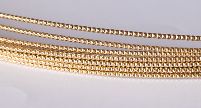 Picture of 14/20 Gold-Filled Diamond Cut Wire  1.3mm x 100cm