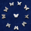 Picture of 925 Sterling Silver Butterflies Solderable Accent (set of 10 pc) - 26ga