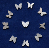 Picture of 925 Sterling Silver Butterflies Solderable Accent (set of 10 pc) - 22ga