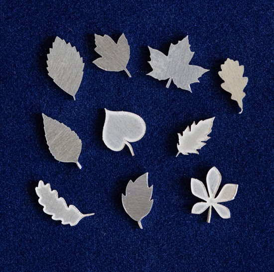 Picture of 925 Sterling Silver Leaves Solderable Accent (set of 10 pc) - 22ga