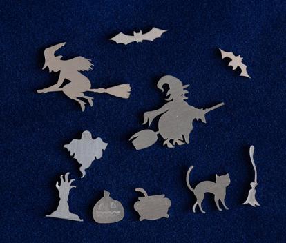 Picture of 925 Sterling Silver Halloween Special Solderable Accent (set of 10 pc) 22ga