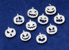 Picture of 925 Sterling Silver Halloween Pumpkins Solderable Accent (set of 10 pc) 22ga