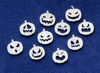 Picture of 925 Sterling Silver Halloween Pumpkins Solderable Accent (set of 10 pc) 24ga