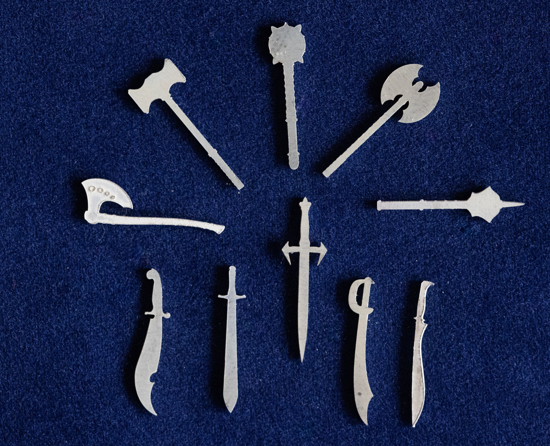 Picture of 925 Sterling Silver Weapons Solderable Accent (set of 10 pc) - 24ga