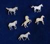 Picture of 925 Sterling Silver Horses Solderable Accent (set of 6 pc) - 22ga